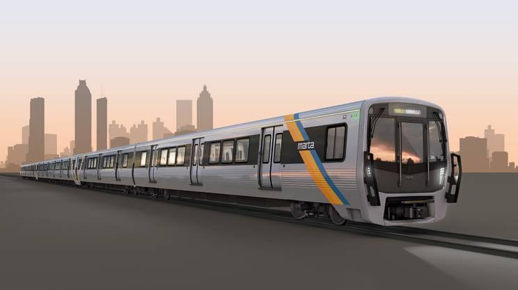 Un modellino dei nuovi convogli della metro di Atlanta