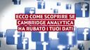 Cambridge Analytica ha i tuoi dati?