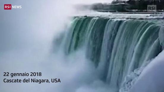 Le cascate di Niagara congelate