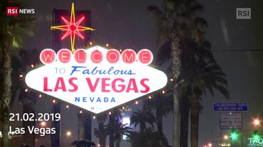 Las Vegas sotto la neve