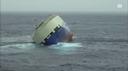 Cargo alla deriva in mare