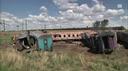 Treno in fiamme in Sudafrica