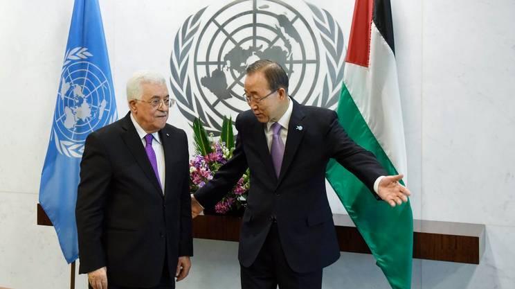 Abbas col segretario generale Ban Ki-moon