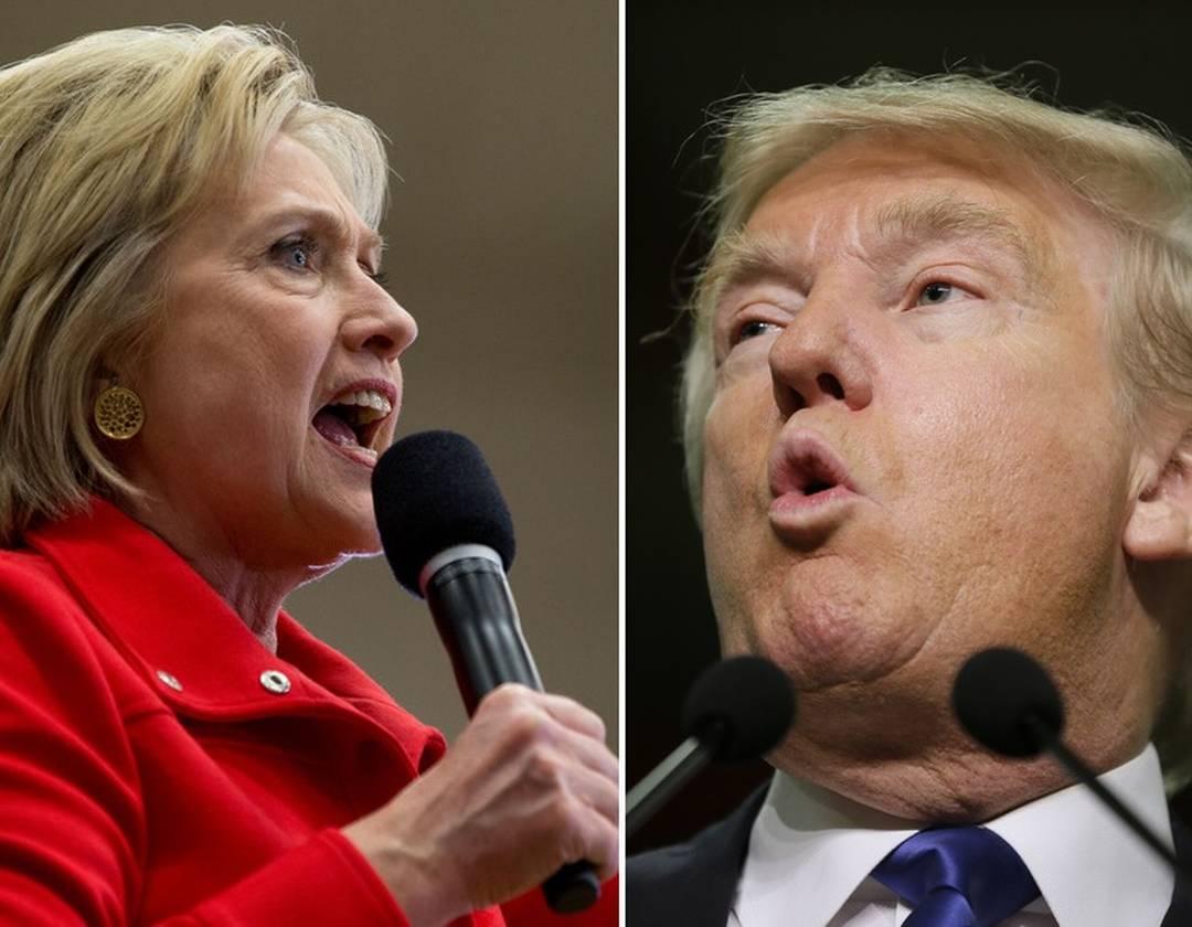 Clinton e Trump: ma il loro vantaggio si assottiglia (1080×840)