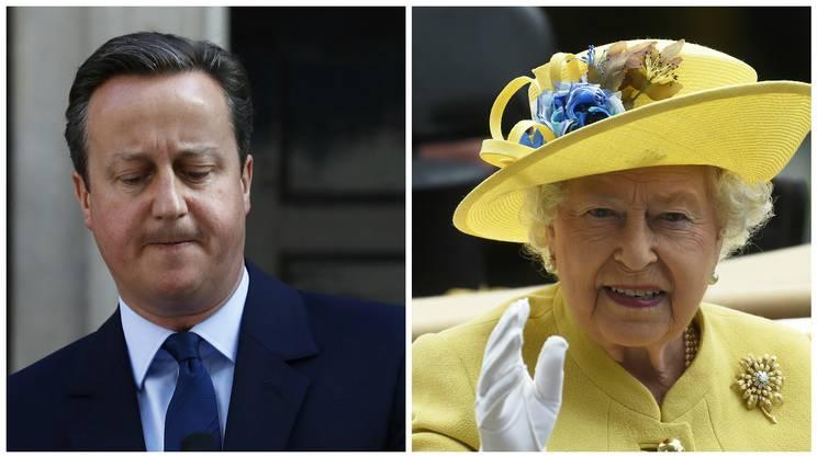 David Cameron è a colloquio con la regina Elisabetta II a Buckingham Palace per annunciarle la sua volontà di dimettersi da premier dopo la sconfitta nel referendum sulla Brexit