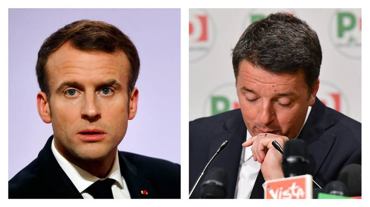 Emmanuel Macron e Matteo Renzi