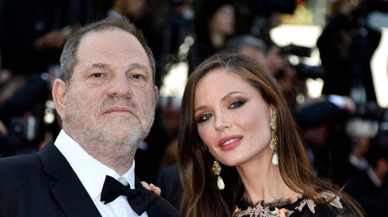 Harvey Weinstein insieme alla moglie, Georgina Chapman