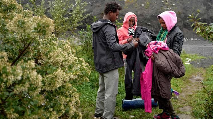 I migranti per la maggior parte provengono dal Corno d'Africa e dall'Afghanistan