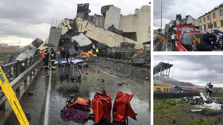 Crollato un viadotto a Genova