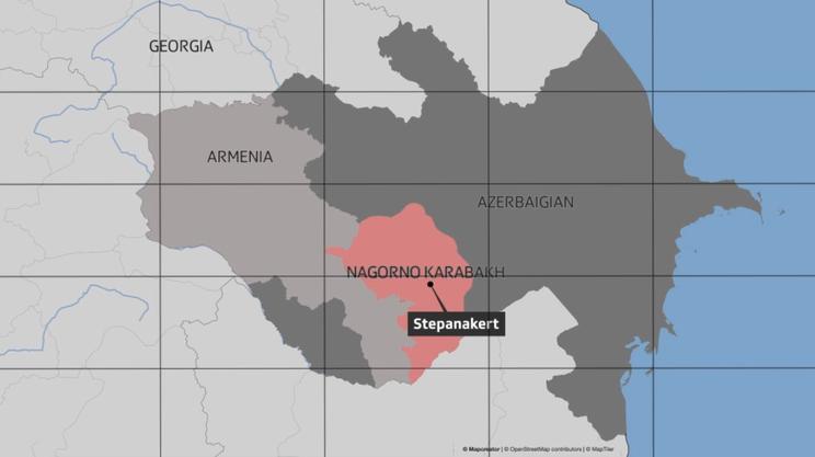 Il Nagorno Karabakh, incastrato tra Armenia e Azerbaijan
