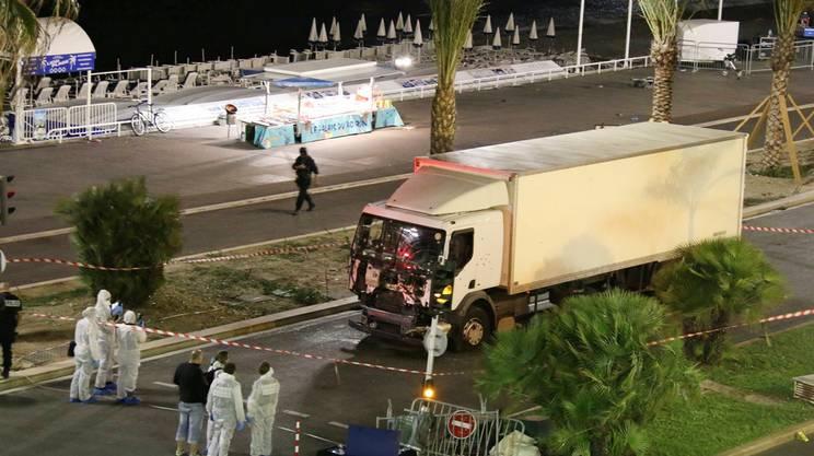 Il camion usato per la strage