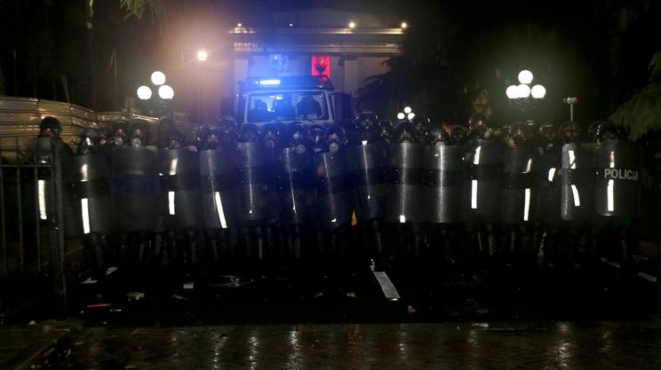 Il cordone di polizia