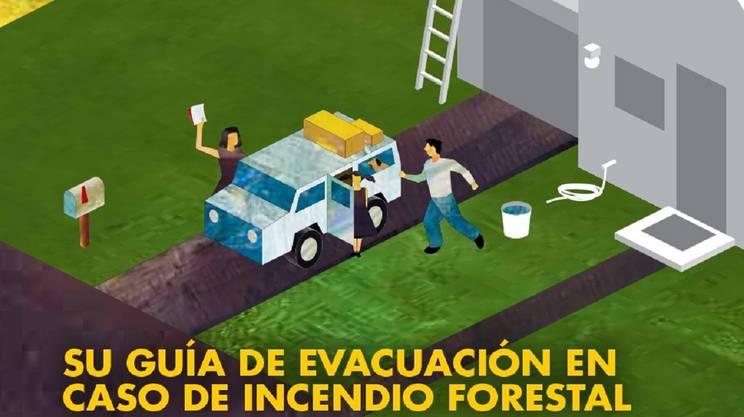 Il manifesto d'allerta in spagnolo diffuso ovunque dai pompieri californiani