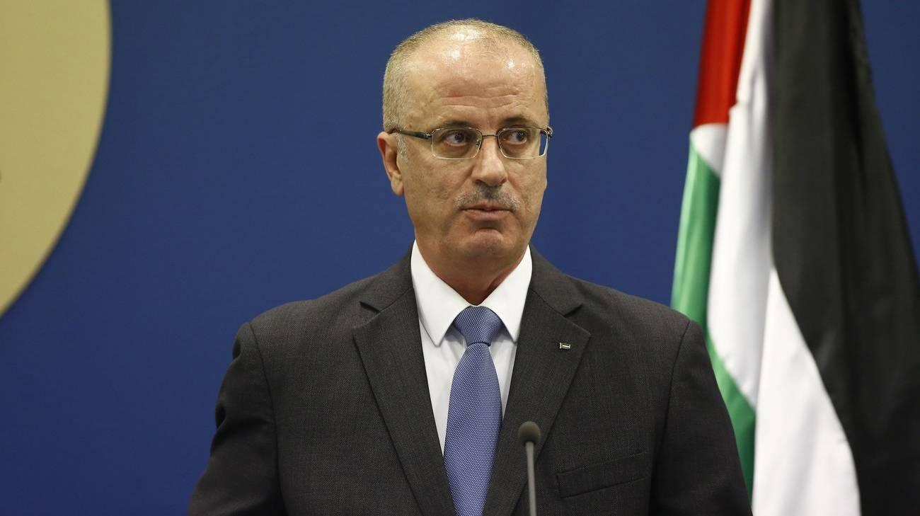 Il pimo ministro palestinese Rami Hamdallah