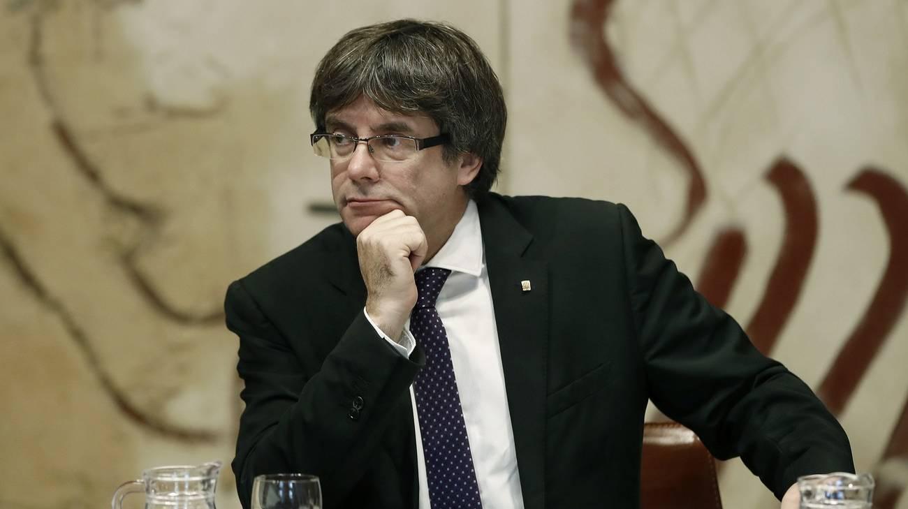 Il presidente catalano Carles Puigdemont