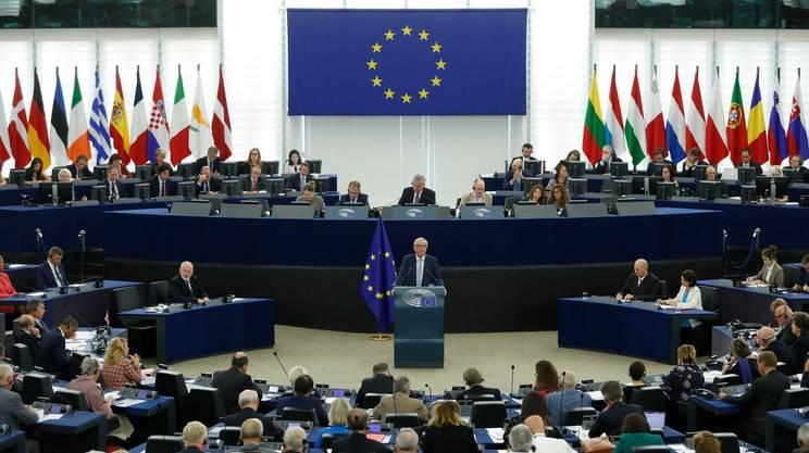 Il presidente della Commissione UE, Jean-Claude Juncker, durante il suo intervento