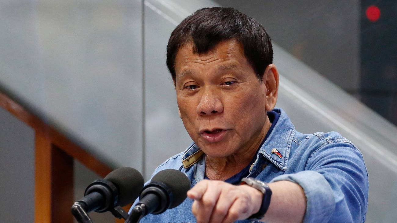 Il presidente filippino Rodrigo Duterte