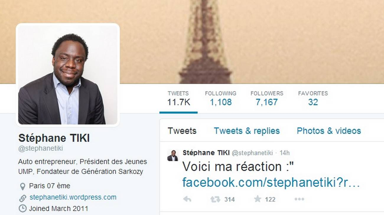 Il profilo twitter di Stéphane Tiki