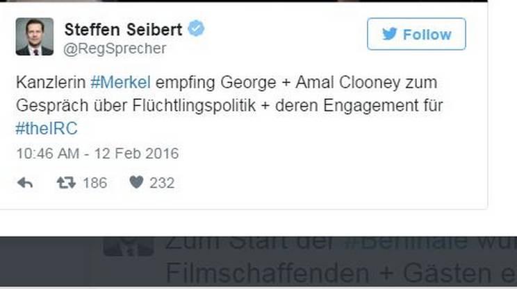 Il tweet del portavoce di Angela Merkel