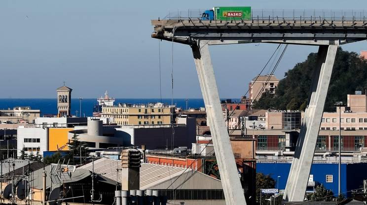 Il viadotto Morandi, crollato il 14 agosto 2018