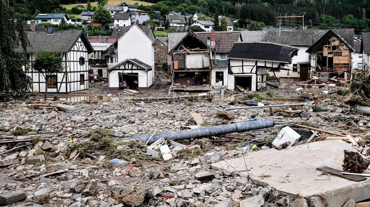 Il villaggio di Schuld, nel distretto di Ahrweiler, distrutto dalle inondazioni