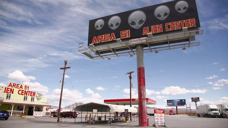Vicino alla base dell'aeronautica militare nel Nevada è sorto un Alien Center