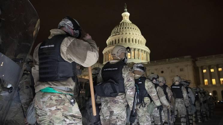 La Guardia Nazionale davanti al Congresso