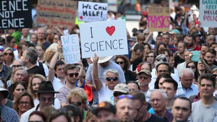La Marcia per la scienza in Australia