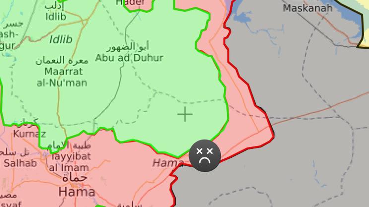 La cartina con le diverse zone controllate da ribelli e dai governativi