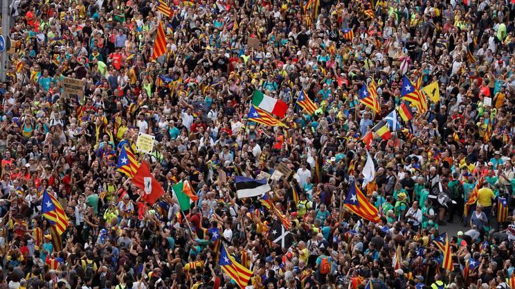 La folla a Barcellona