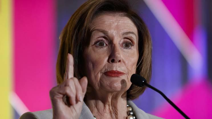 La presidente della Camera dei Rappresentanti Nancy Pelosi