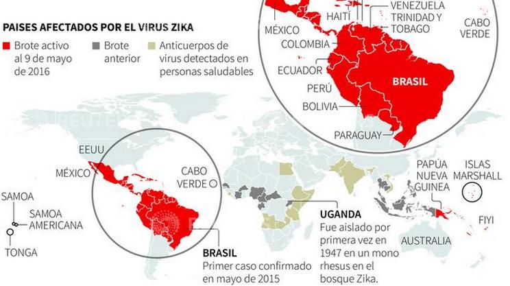 La propagazione del virus Zika