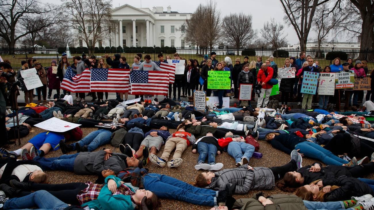 La protesta degli studenti a Washington