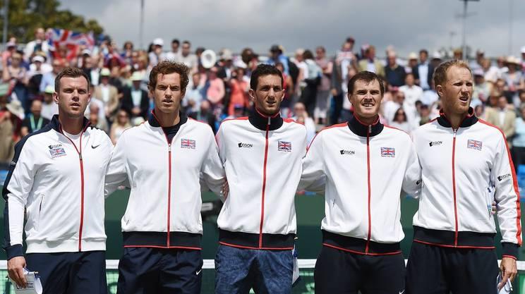 La squadra britannica di Davis, fotografata prima dei quarti di finale a Londra contro la Francia