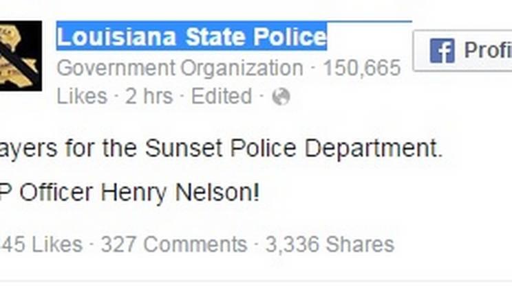 L'annuncio della polizia