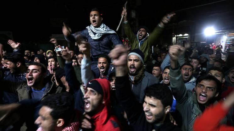 Le proteste dei palestinesi