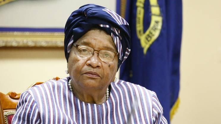 L'ex presidente della Liberia e premio Nobel per la pace 2011 Ellen Johnson Sirleaf