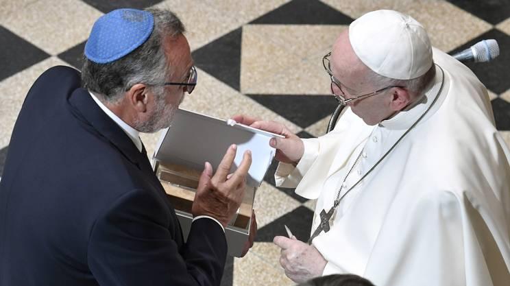 L'incontro con la comunità ebraica, fra le più importanti d'Europa