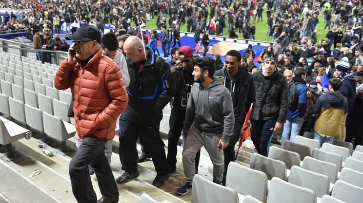 Lo Stade de France dopo la partita