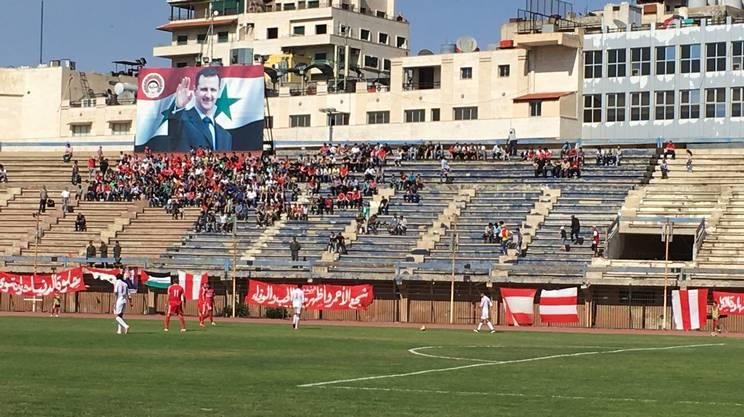 Lo stadio di Homs dove la squadra di casa ha affrontato la compagine di Hama