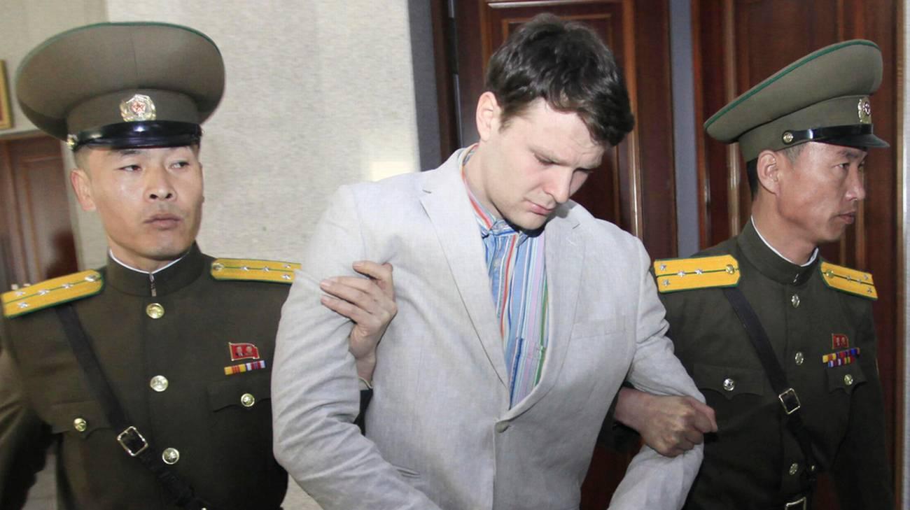 Lo studente USA condannato dal regime a 15 anni di lavori forzati