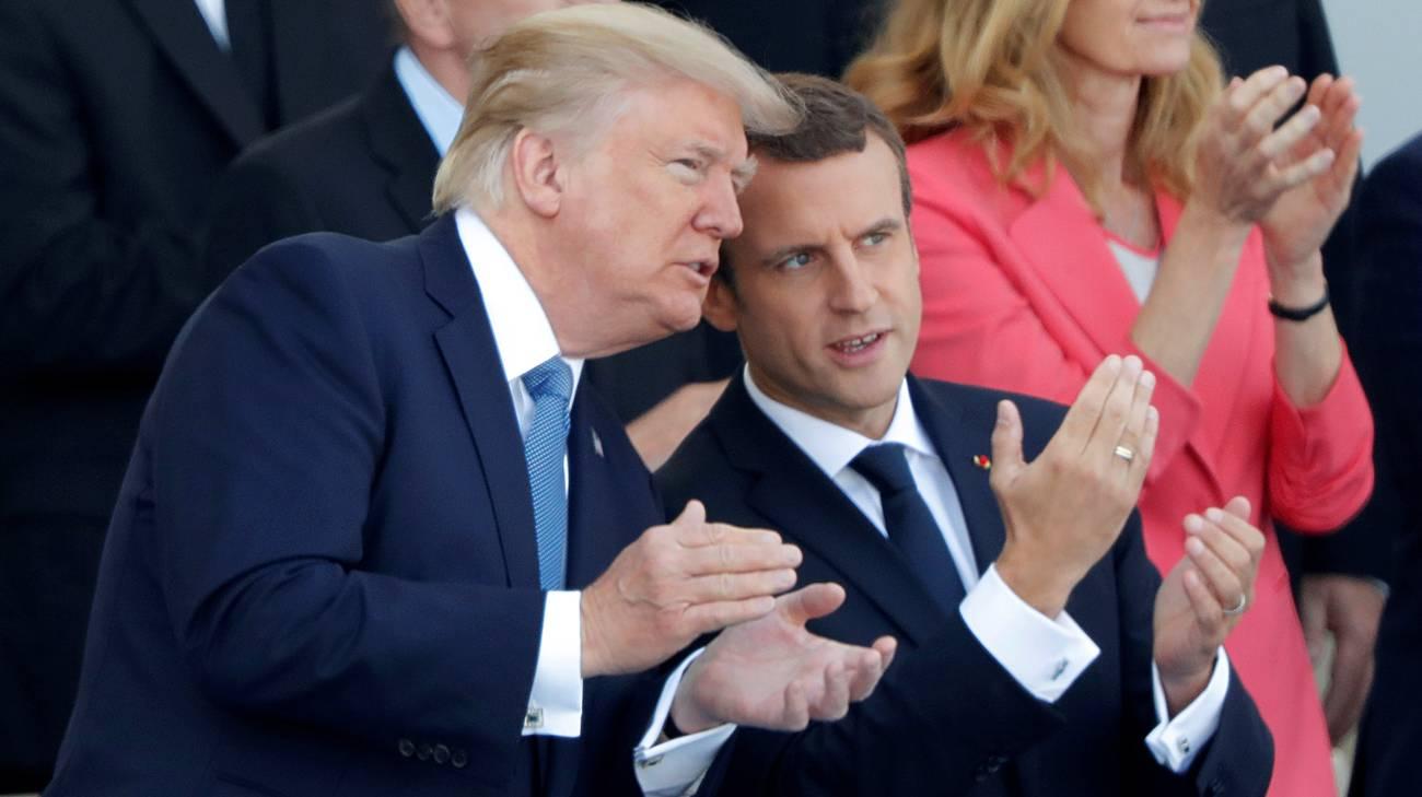Macron ha ricordato a Trump gli impegni sull'Iran siglati da Washington