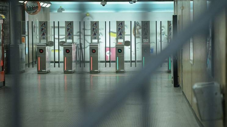 Metropolitana chiusa