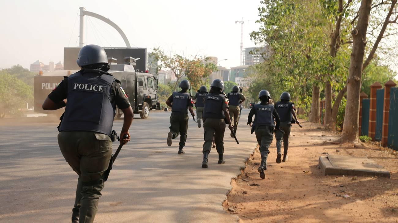 Operazione di polizia durante un attacco di gennaio