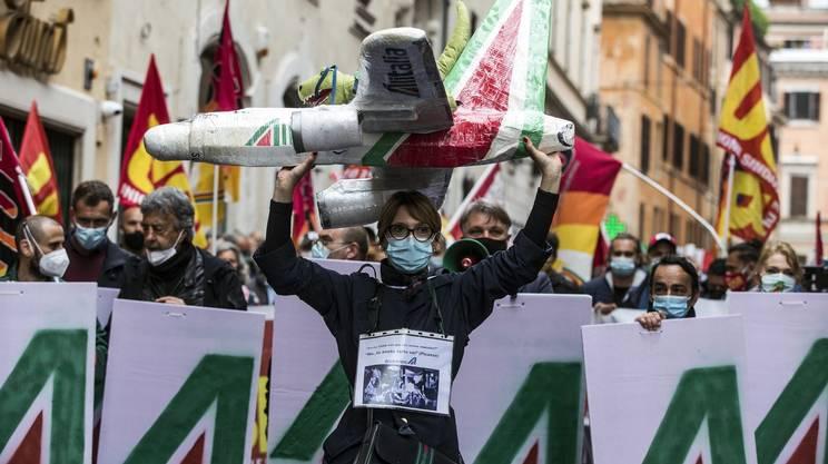 Personale di Alitalia in agitazione