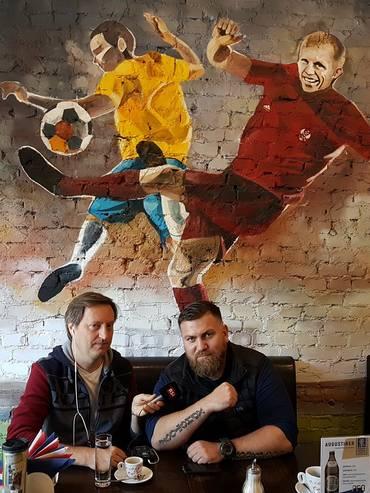 Pierre Ograbek con Vasyl the killer