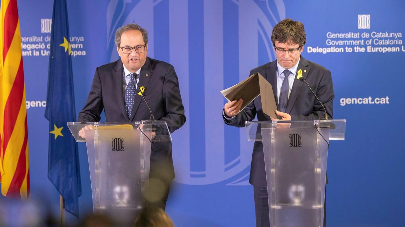 Catalogna, Puigdemont a Sanchez: 'Proponga soluzione'