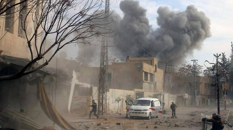 Siria, pesanti raid sulla Ghuta
