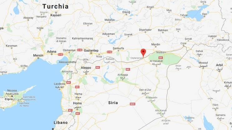Ras al Ain si trova proprio al confine tra Siria e Turchia