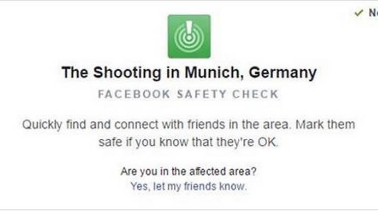 Safety Check per la sparatoria di Monaco